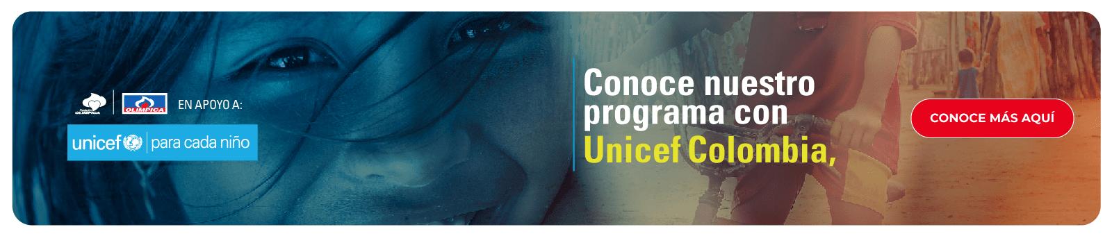 Conoce nuestro programa Unicef Colombia