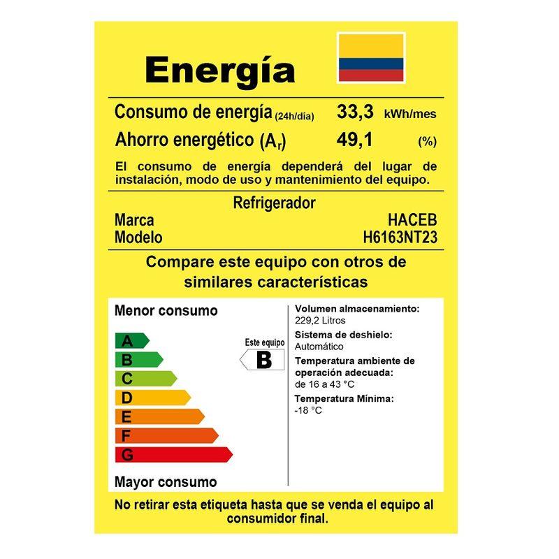 Nevera-HACEB--SIBERIA---230Litros---No-frost---SE-2P-DA-ME-TI