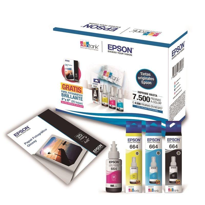 Kit-4-Botellas-de-Tinta-EPSON-KT664120-BL---Papel-Fotografico