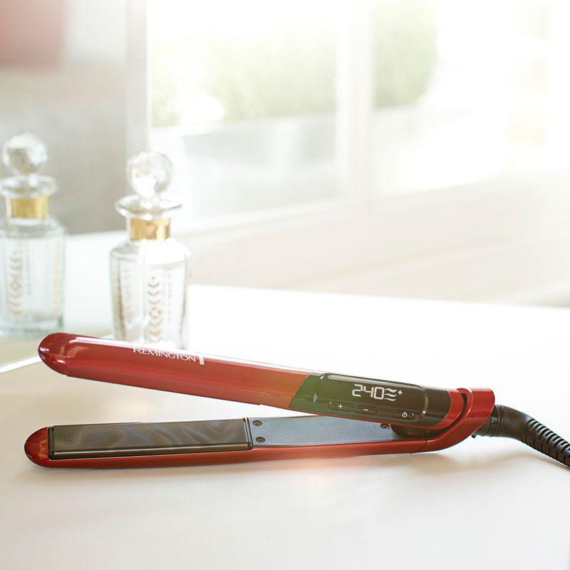 Plancha-Alisadora-REMINGTON-Silk-Ceramica-Con-Seda---Color-Rojo---S9600