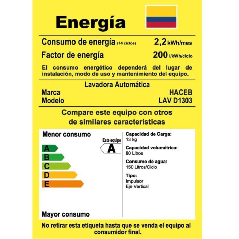 Lavadora-HACEB-Automatica---13-Kg---1303-TI