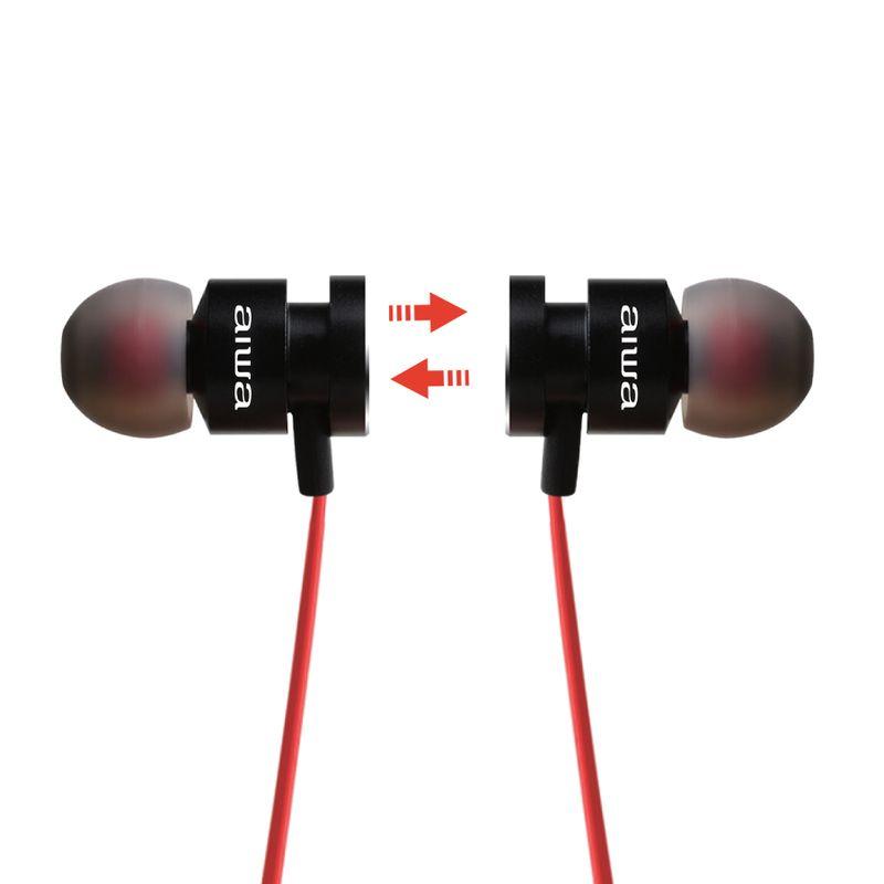 Audifonos-AIWA-In-Ear-Bluetooth-Con-Microfono---Rojo-Negro