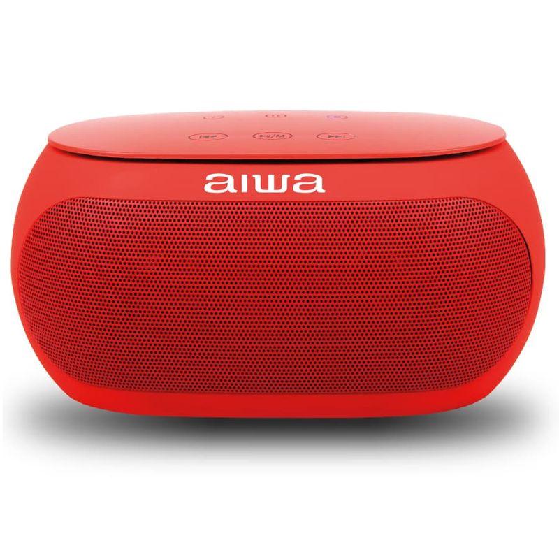 Parlante-AIWA-Portatil---10W-RMS---Bluetooth---AW31R---Rojo