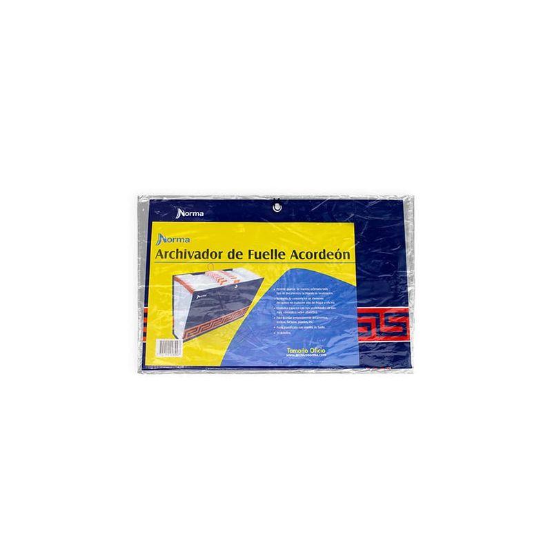 Archivo-De-Fuelle-NORMA-Precolombino---Azul---Oficio---30-Bolsillos
