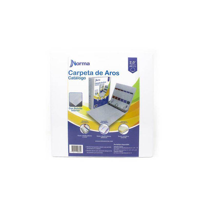 Carpetas-De-Aros-NORMA-Pasta---Catalogo---Blanca---Carta-2-Redondo---3-Aros---10-Unidades