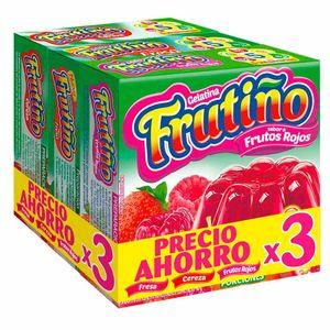 GELATINA FRESA CEREZA FRUTOS ROJOS FRUTIÑO 40 g 3 UND