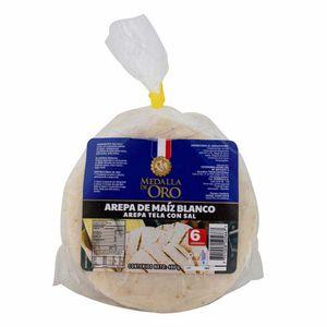 AREPA MEDALLA ORO MAIZ BLANCO CON SAL X6 480g
